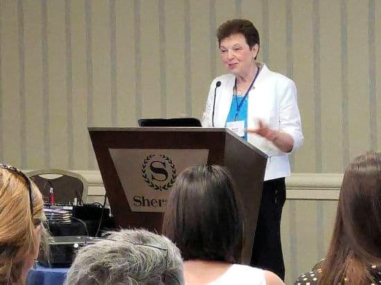 Susan Omilian Speaker Podium