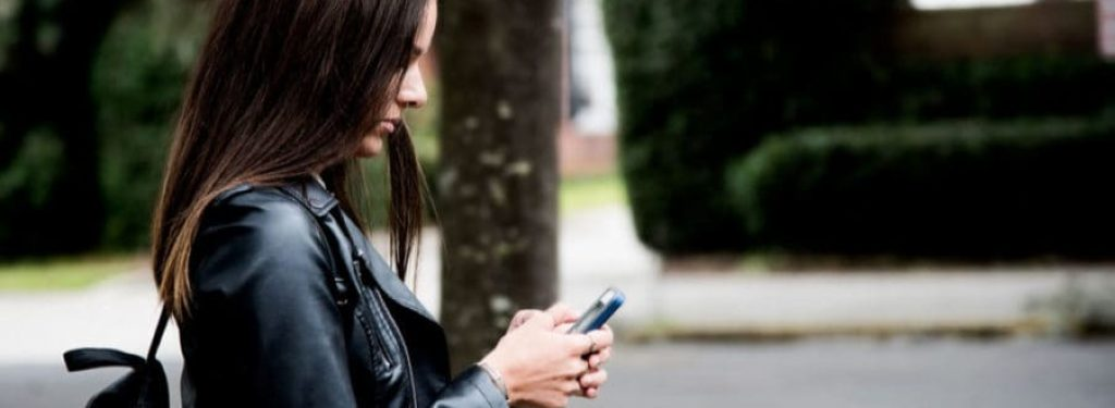 Woman Contacting on Mobile